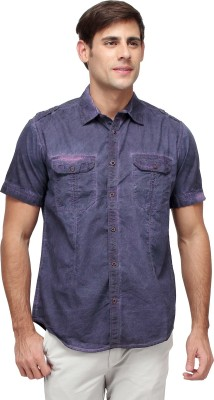 Blue Saint Men's Solid Casual Blue Shirt