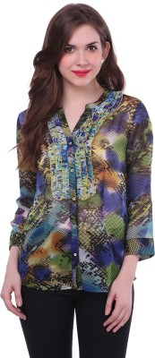 Colors Couture Women's Printed Casual Multicolor Shirt