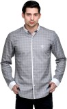 Fusion Freak Men's Solid Casual Grey, Wh...