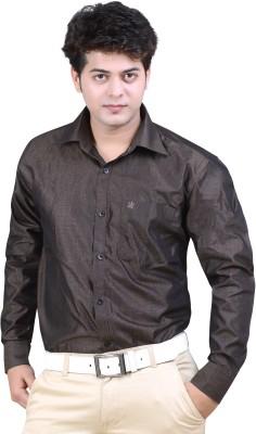 Ishin Designer Studio Men's Solid Casual Black Shirt