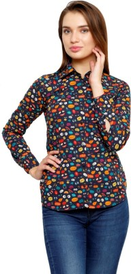 99 Hunts Women's Printed Casual Multicolor Shirt