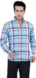 Jazzup Men's Checkered Casual Blue, Red ...