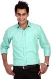 TGM Men's Solid Casual Light Green Shirt