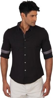 Calvin Klein Men's Solid Casual Black Shirt