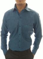 Ze bac Formal Shirts (Men's) - ZE-BAC Men's Solid Formal Dark Blue Shirt
