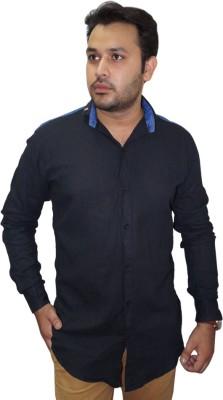 Ali Darzi Men's Solid Casual Black Shirt