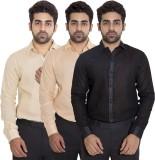 Deekshavastra Men's Solid Casual Black S...