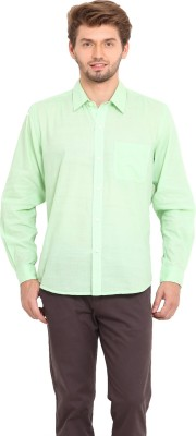 Ekmatra Men's Solid Casual Light Green Shirt
