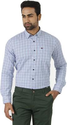 London Fog Men's Checkered Formal Multicolor Shirt
