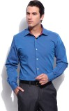 Protext Men's Solid Formal Blue Shirt