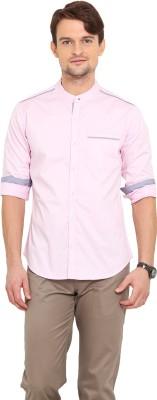 Western Vivid Men's Solid Casual Pink Shirt