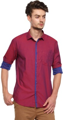 British Club Men,s Solid Casual Red Shirt