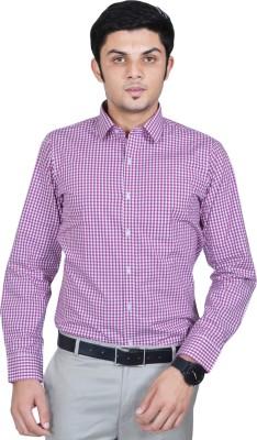 Kriss Men's Checkered Casual Pink Shirt