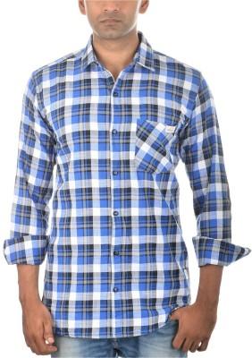 Jack 8 Men's Checkered Casual Blue Shirt