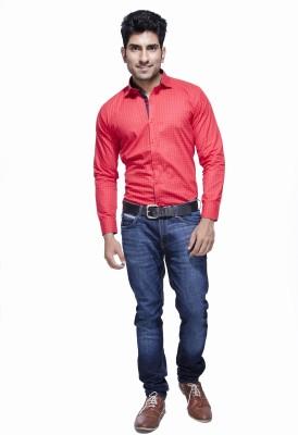 Jads Men's Printed Casual Red, Multicolor Shirt