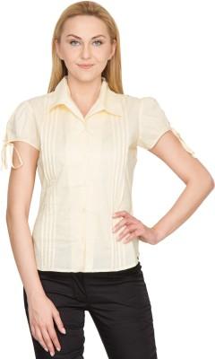 Species Women,s Solid Formal Beige Shirt
