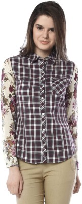 Miss Pink Women's Checkered Casual Multicolor Shirt