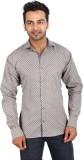Regza Men's Printed Casual Grey Shirt