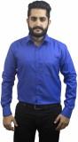 Aces Blue Men's Solid Formal Linen Blue ...