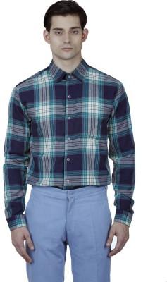 Baba Rancho Men's Checkered Casual Blue Shirt