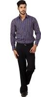 Chairman Formal Shirts (Men's) - Chairman Men's Striped Formal Multicolor Shirt
