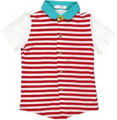 Baby Moshai Girl,s Striped Casual Red, White Shirt