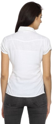 Texco Garments Women's Self Design Casual White Shirt
