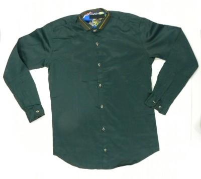 ARCS Agencies Men's Solid Casual Green Shirt