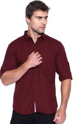 Zavlin Men,s Solid Casual Maroon Shirt