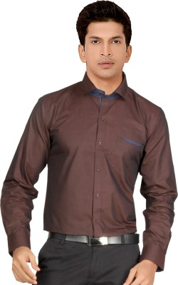 Red Country Men's Solid Casual Brown Shirt