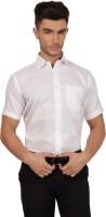 Indhiran Formal Shirts (Men's) - Indhiran Men's Solid Formal White Shirt