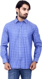 Cotton Signs Men's Checkered Casual Blue...