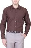 PSK Men's Solid Formal Brown Shirt
