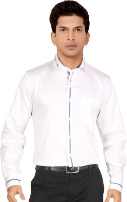 Red Country Men's Solid Casual White Shirt