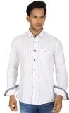 Killer Men's Printed Casual White Shirt