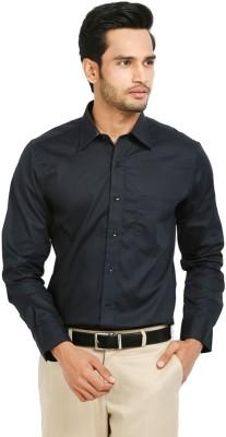 Badstreet Boys Men's Solid Formal Dark Blue Shirt