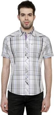 True Tittos Men's Checkered Casual Purple, Grey, Black Shirt