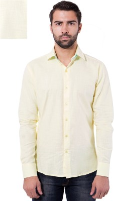 Tag & Trend Men's Solid Casual Yellow Shirt