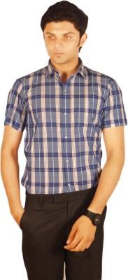 Kriss Men's Checkered Casual Blue, Red Shirt