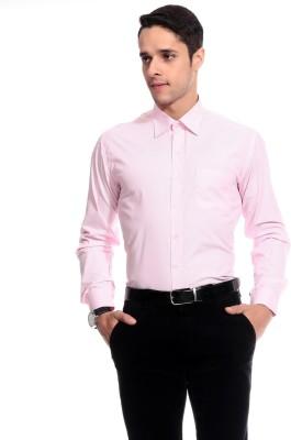 Goodkarma Men's Striped Formal Pink Shirt