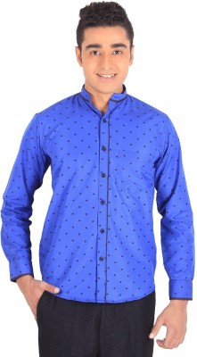 Henry Spark Men's Solid Casual Blue Shirt
