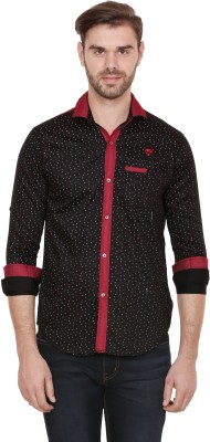 Alive Sport Men's Printed Casual Red Shirt