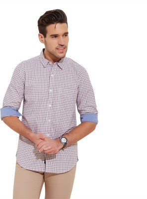 Urban Nomad By INMARK Men's Checkered Formal, Casual Brown Shirt