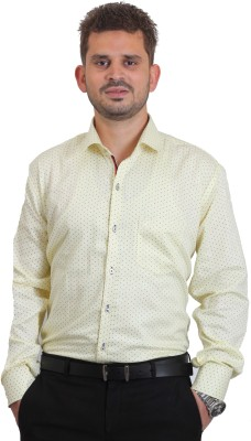 The Standard Men's Printed Casual, Formal White Shirt