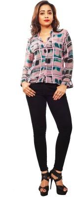 Reinvent Women's Self Design Casual Pink Shirt