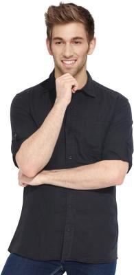 Blackburne Inc Men's Solid Casual Black Shirt