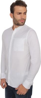 Calvin Klein Men's Solid Casual White Shirt