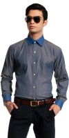 Cotton Crus Formal Shirts (Men's) - Cotton Crus Men's Solid Formal Grey Shirt