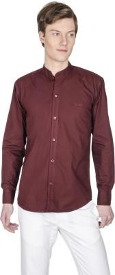 Poker Dreamz Men's Solid Formal Maroon Shirt