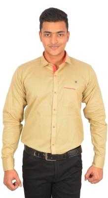 Binani Men,s Solid Casual Gold Shirt